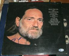 Willie Nelson Country Legend Signed Autographed Sings Kristofferson  Album Bas