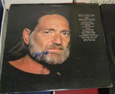 Willie Nelson Country Legend Signed Autographed Sings Kristofferson  Album Coa