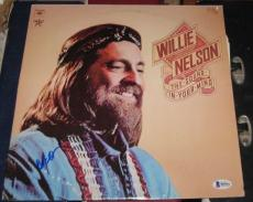 Willie Nelson Country Legend Signed Autographed Sound In Your Mind Album Bas/coa