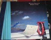 Willie Nelson Country Legend Signed Autographed Without A Song Album Bascoa 1983