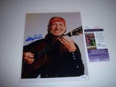 Willie Nelson Country Music Legend Jsa/coa Signed 8x10 Photo