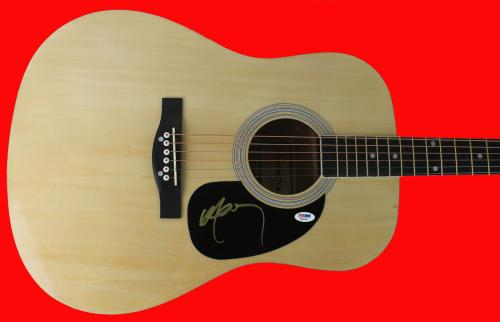 Willie Nelson Country Musician Signed Acoustic Guitar PSA/DNA #AB40435