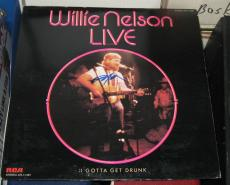 Willie Nelson Country Signed Autographed 1976 Willie Nelson Live Album Coa