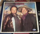 Willie Nelson Country Signed Autographed 1983 Pancho & Lefty Album Bas Merle