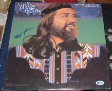 Willie Nelson Country Signed Autographed Dont You Get Tired Hurting Me Album Bas