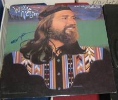 Willie Nelson Country Signed Autographed Dont You Get Tired Hurting Me Album Coa