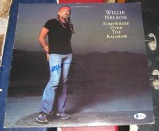 Willie Nelson Country Signed Autographed Somewhere Over The Rainbow Album Bas