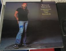 Willie Nelson Country Signed Autographed Somewhere Over The Rainbow Album Coa