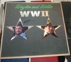 Willie Nelson Country Signed Autographed Waylon And Willie Wwii Album Coa 1982
