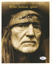 WILLIE NELSON HAND SIGNED 8x10 PHOTO          COUNTRY MUSIC LEGEND         JSA