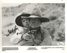 WILLIE NELSON HAND SIGNED 8x10 PHOTO     AWESOME+RARE POSE FROM BARBAROSA    JSA