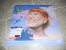 Willie Nelson Island in the Sea Signed Autographed LP Album Record PSA Certified