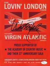 Willie Nelson Jsa Certed Signed 8x10 Handbill Authentic Autograph