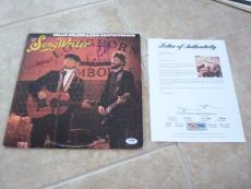 Willie Nelson Kris Kristofferson Signed Song Writer LP Record PSA Certified