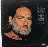 Willie Nelson Kristofferson Signed Album Cover W/ Vinyl PSA/DNA #S80833