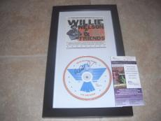 Willie Nelson Live And Kickin Signed Autograph Framed CD Display PSA Certified