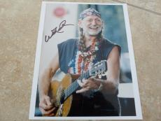 Willie Nelson Live Concert Signed Autographed 8x10 Photo Beckett Certified