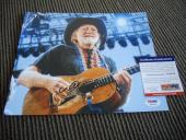 Willie Nelson Live Signed Autographed 8x10 Photo PSA Certified #1