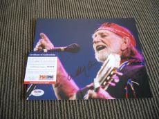 Willie Nelson Live Signed Autographed 8x10 Photo PSA Certified #2