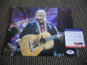 Willie Nelson Live Signed Autographed 8x10 Photo PSA Certified #4