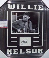 Willie Nelson Music Legend Psa/dna Coa Signed Auto Index Card Matted & Framed A
