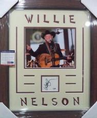 Willie Nelson Music Legend Psa/dna Coa Signed Auto Index Card Matted & Framed B