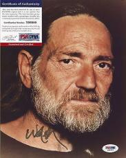 Willie Nelson Music Legend Psa/dna Coa Signed Autographed 8x10 Photo Rare A