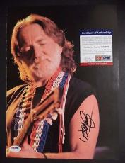 Willie Nelson Music Legend Signed Autographed 10x13 Book Page Psa/dna Coa A Rare