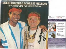 Willie Nelson Music Legend Signed Autographed 45 Rpm Jsa Coa Authentic Rare