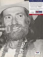 Willie Nelson Music Legend Signed Autographed 8x10 Book Page W/coa Authentic A