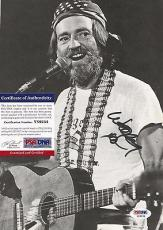 Willie Nelson Music Legend Signed Autographed 8x10 Book Page Psa/dna Coa B Rare