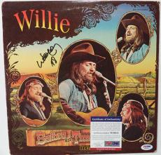 "Willie Nelson Music Legend Psa/dna Coa Signed ""before His Time"" Album Cover"