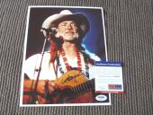 Willie Nelson Promo Signed Autographed 8x10 live Concert Photo PSA Certified #6