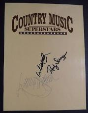 Willie Nelson Randy Scruggs Kathy Mattea Multi Signed 8x10 Book Page W/coa Rare