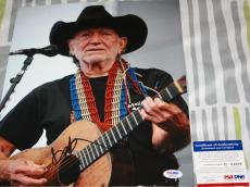 Willie Nelson signed 11 x 14, Country Legend, On The Road Again, PSA/DNA