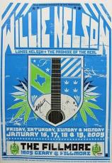 Willie Nelson Signed 13X19 2009 Concert Poster PSA/DNA #W46028