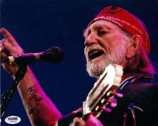WILLIE NELSON Signed 8x10 Photo 3 PSA DNA