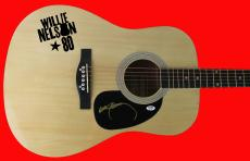 Willie Nelson Signed Acoustic Guitar Autographed PSA/DNA #AB40434