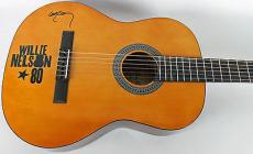 Willie Nelson Signed Acoustic Guitar Autographed PSA/DNA #AB81006