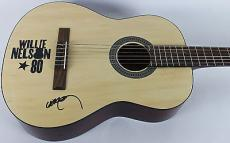 Willie Nelson Signed Acoustic Guitar Autographed PSA/DNA #AB81007