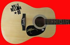 Willie Nelson Signed Acoustic Guitar PSA/DNA #AB83822