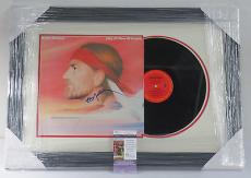 Willie Nelson Signed Album City of New Orleans FRAMED w/ JSA AUTO FREE SHIPPING