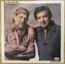 Willie Nelson Signed Album Cover - San Antonio Rose - PSA DNA