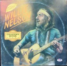 Willie Nelson Signed Album Cover W/ Vinyl Autographed PSA/DNA #V16059