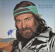 Willie Nelson Signed Always On My Mind Record Album Jsa Coa K18828