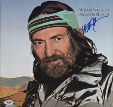Willie Nelson Signed Always On My Mind Record Album Psa Coa Ad48264