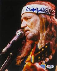 Willie Nelson Signed Authentic Autographed 8x10 Photo (PSA/DNA) #I72481