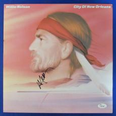 Willie Nelson Signed Autograph City Of New Orleans LP Vinyl Album JSA K42467
