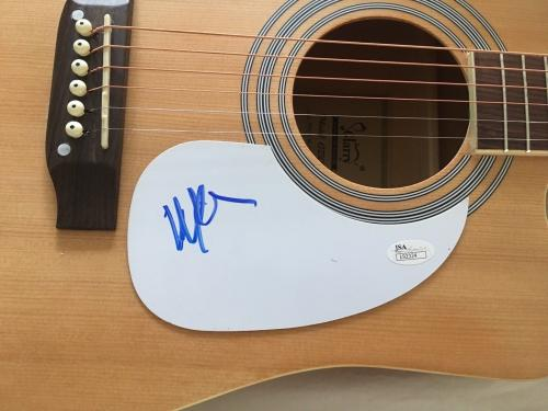 Willie Nelson Signed Autograph New Full Natural Wood Acoustic Guitar Jsa 92324