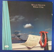 Willie Nelson Signed Autograph Without A Song LP Vinyl Album JSA K42466